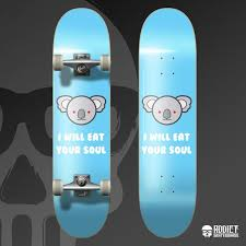 Skateboards Designs Koala Skateboard Deck Skateboard Design Art Skateboard Art Deck Art Deck Graphic Cute Baby Blue Animal Koala Art Skate Display