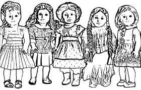 American Girl Doll Coloring Pages Wecoloringpagecom