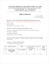 sales contracts sample 4 sales contract samplereport template document report template