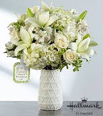 the ftd loved honored and remembered bouquet by hallmark vase included