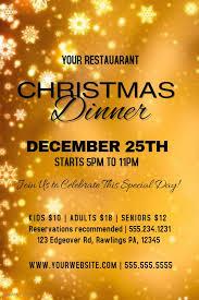 christmas dinner poster golden christmas dinner poster template christmas poster