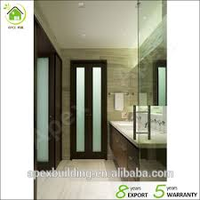 frosted shower doors. Walnut Color Frosted Glass Shower Doors / Bathroom Door Bi Fold
