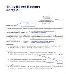 Skills Based Resume Template Word #2199