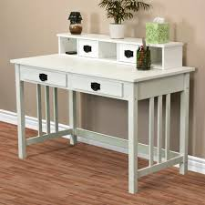 writing desk mission home office computer desk wood construction new white