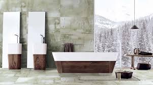 a large luxury bathroom featuring porcel thin large format 1200 x 600mm kandla grey sandstone