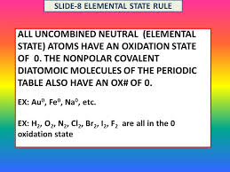 RULES OF OXIDATION NUMBER ASSIGNMENT STEPS IN ASSIGNNING OXIDATION ...