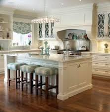 kitchens with islands photo gallery. Interesting Islands Image 12 Of 15 From Gallery Most Wonderful Kitchen Curtain Ideas  Traditional Kitchen Features Blue Curtain Window Fabric Robert Allen East Bay Colour  In Kitchens With Islands Photo Gallery W