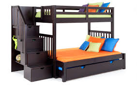 full bunk beds with stairs. Modren Full Keystone Stairway TwinFull Bunk Bed With StorageTrundle Unit To Full Beds Stairs