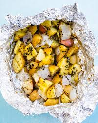 grilled potatoes in foil a couple cooks