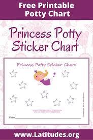 Free Potty Training Sticker Chart Cute Princess Sticker