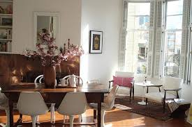 san francisco pink accents with contemporary bathroom mirrors dining room eclectic and copper fireplace surround