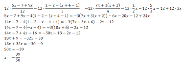 resolved linear equations with