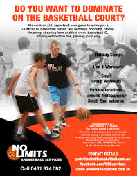 basketball training flyer template modern professional advertising flyer design for no limits