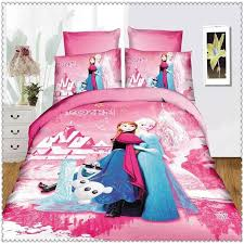 frozen bedding set blue pink twin single size home textiles intended for queen comforter inspirations 13
