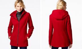 london fog wool zip up coat