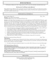 Cisco Voice Engineer Sample Resume Cool Voip Engineer Resume Engineer Sample Resume 44 Network Format Sample
