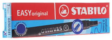 stabilo стержень для ручки роллера easy цвет чернил синий 3 шт