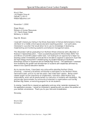 Special Education Cover Letter Examples Relevant Depiction Teaching