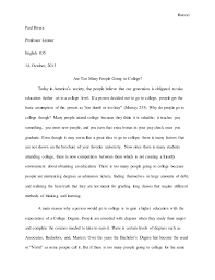 an essay on going to college should everyone go to college college essays about school
