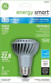 lighting ge energy smartr dimmable 30w replacement 7w par20 led light bulb green outdoor flood