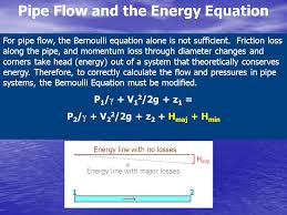 pipe flow and the energy equation