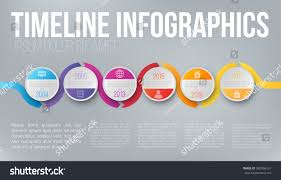 Wave Form Colorful Business Timeline Infographic Stock Vector ...