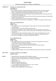 San Administration Sample Resume SAN Administrator Resume Samples Velvet Jobs 3