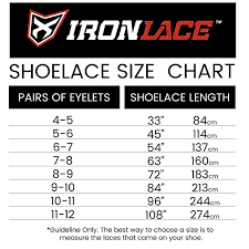 Shoelace Length Chart Best Picture Of Chart Anyimage Org