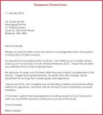 Free Example Of Resignation Letters Resignation Letter Template Download