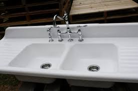 sinks antique cast iron kitchen sink with drainboard this is a