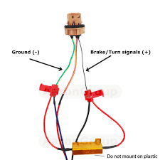 4pcs 50w 6ohm led load resistor fix led bulb fast hyper flash turn Led Load Resistor Wiring Diagram Led Load Resistor Wiring Diagram #14 LED Blinker Resistor Install
