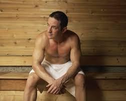 man having sauna jpg