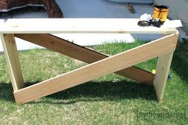 diy sofa table plans simple x sofa table building plans featured on diy pallet sofa table