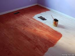 staining the floor