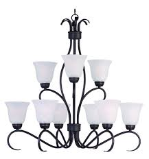 maxim lighting basix 9 light chandelier oil rubbed bronze transitional chandeliers chandeliers