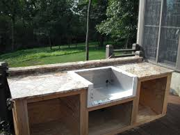 outdoor kitchen drainage grill with sink plumbing an outdoor sink outdoor utility sink