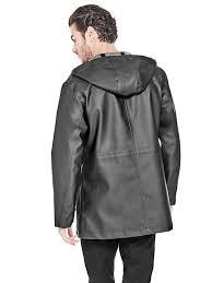 grey waterproof parka with hood guess coats jackets m73117au317
