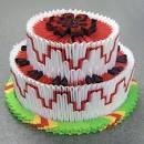 Оригами модуль торт схемы
