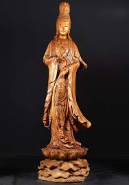 "View the <b>Wooden Kwan Yin</b> Statue 76"" at Hindu Gods | Statue ..."