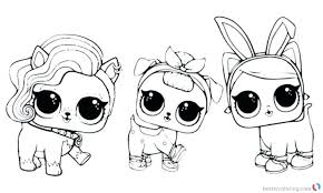 Lol Pets Coloring Pages Printable Free New Dolls For Awesome Col