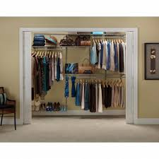 closetmaid shelftrack 5 ft to 8 ft nickel closet organizer kit with nice home depot closet