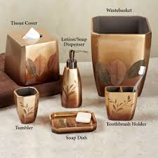 Wooden Bathroom Accessories Set Bathroom Accessory Sets Touch Of Class