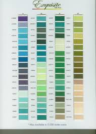 Exquisite Thread Color Chart Pin On Sew