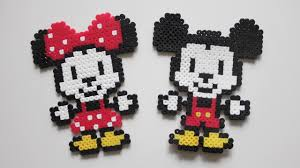Perler Beads Mickey Mouse Designs Mickey Minnie Mouse Diy Perler Beads L Diy Miki I Minnie Koraliki Do Prasowania