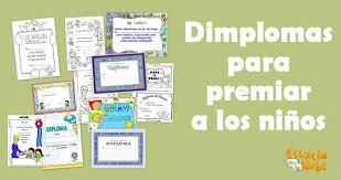 Recursos Para El Aula Diplomas Para Premiar A Los Niños Escuela