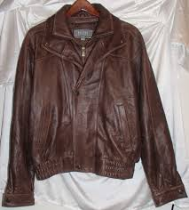 wilsons leather jacket genuine leather zip front with snapped overflap
