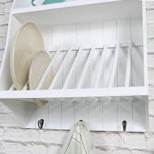 wall mounted dish rack wood off 53