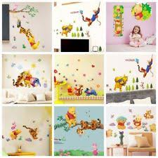winnie the pooh wall stickers nursery kids bedroom removable mural decal decor on yellow wall art ebay with anime manga removable d cor wall stickers art ebay