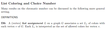 G is the minimal number of colors for which such an assignment is possible. Why Does List Coloring Provides A More General Setting To Discuss The Chromatic Number Mathematics Stack Exchange
