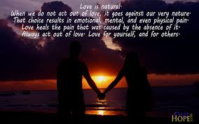Natural Love Quotes Act Out of Love OneHope 99